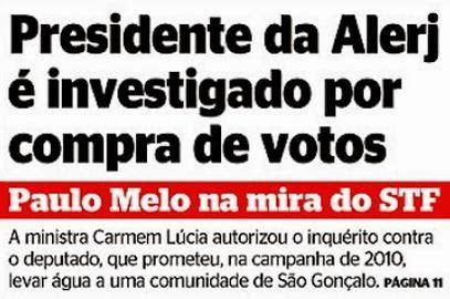 Presidente da Alerj é investigado por compra de votos