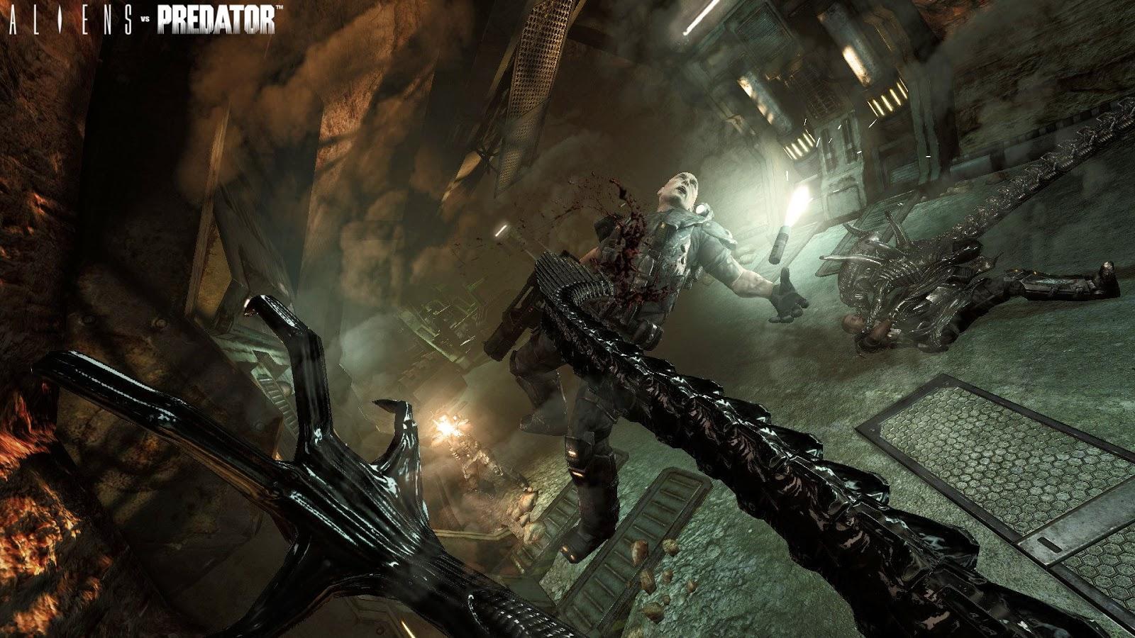 ALIENS VS PREDATOR Campaign Gameplay Walkthrough Part 1 ...