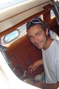vida a bordo, cocinando en el barco