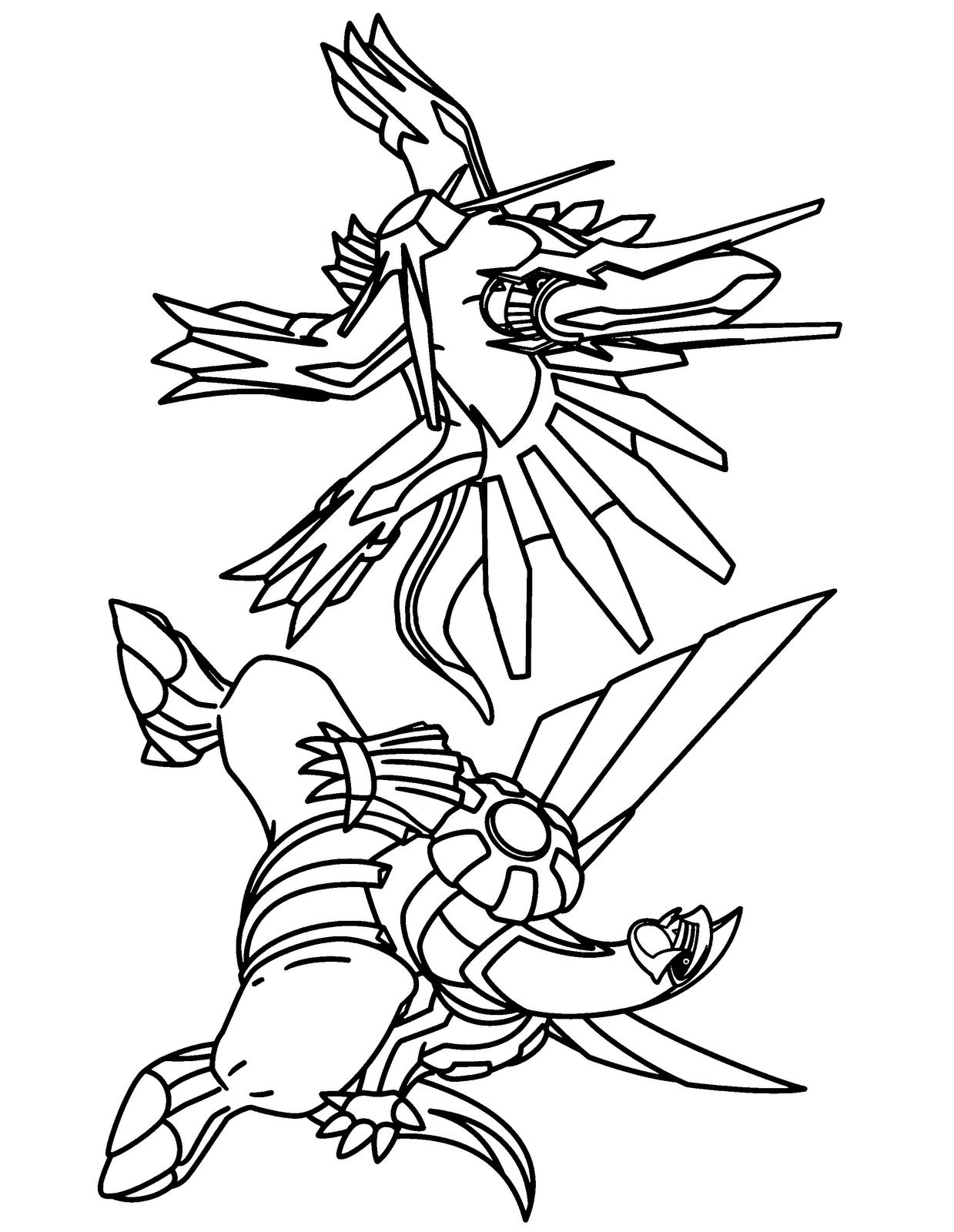 Desenhos para colorir - Coloriage pokemon palkia ...