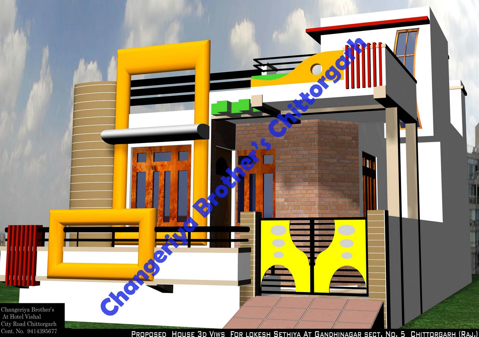 Mr Lokesh Sethiya House Plan Exterior Design In 3d Indian