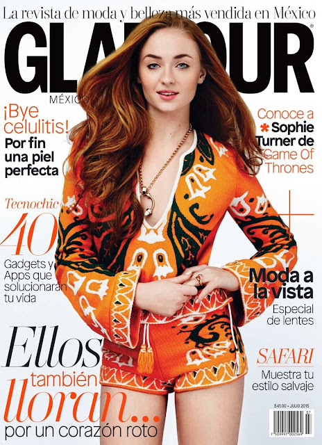 Actress @ Sophie Turner for Glamour Mexico, June 2015