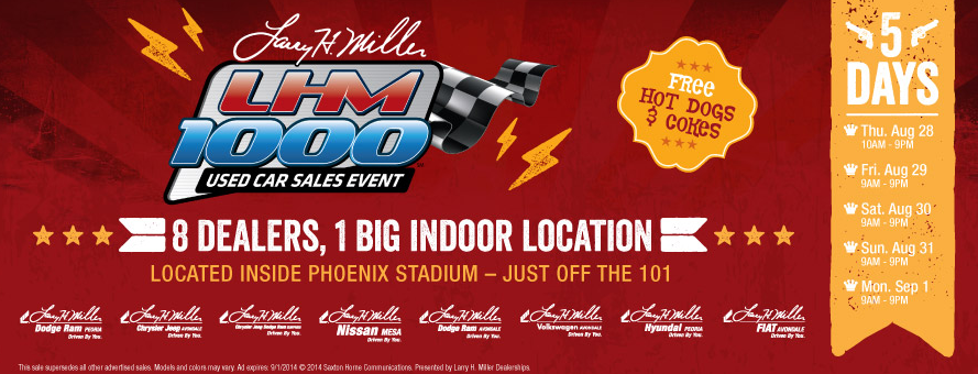 LHM 1000 Used Car Sales Event | Larry H. Miller Nissan Mesa
