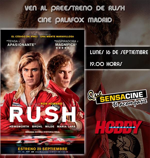 """Ganadores de las entradas dobles para el preestreno de """"Rush"""""""