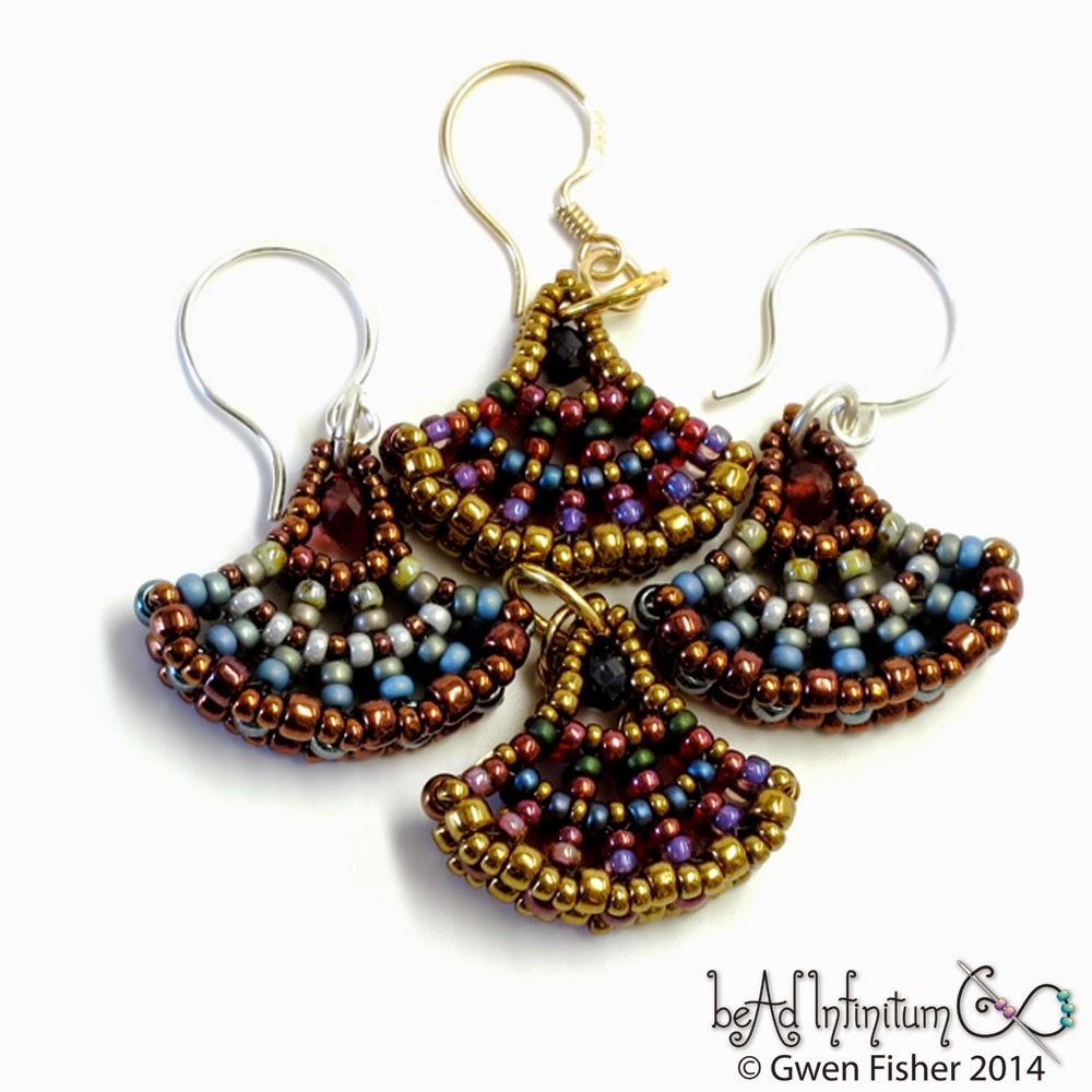 Marsala Ginkgo Earrings