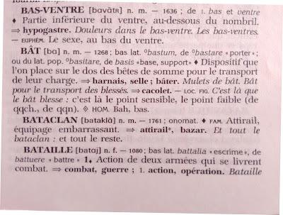 bataclan, clases particulares de francés, trastos, traducción, vocabulario, francés, léxico,