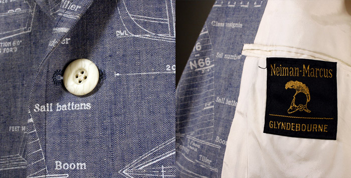 sailboat jacket detail
