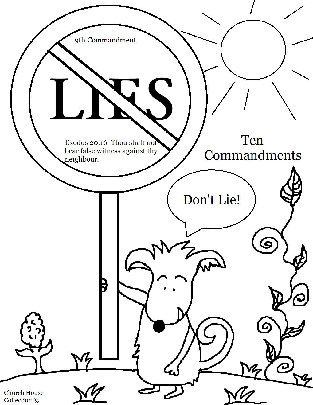 The Ten Commandments Coloring Pages