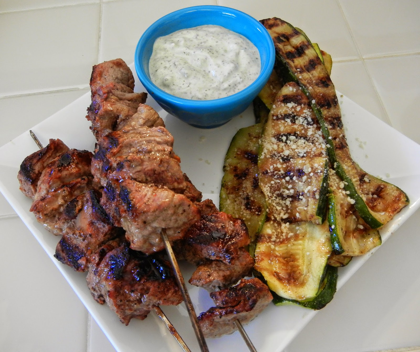 Beef+Kabobs+Grilled+Zucchini+Greek+Yogurt+Dip+Eggface Weight Loss Recipes Post Weight Loss Surgery Menus: A day in my pouch