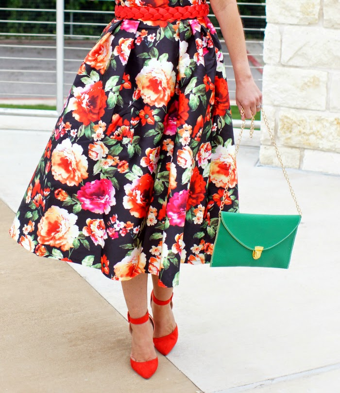 Full Floral Retro Dress