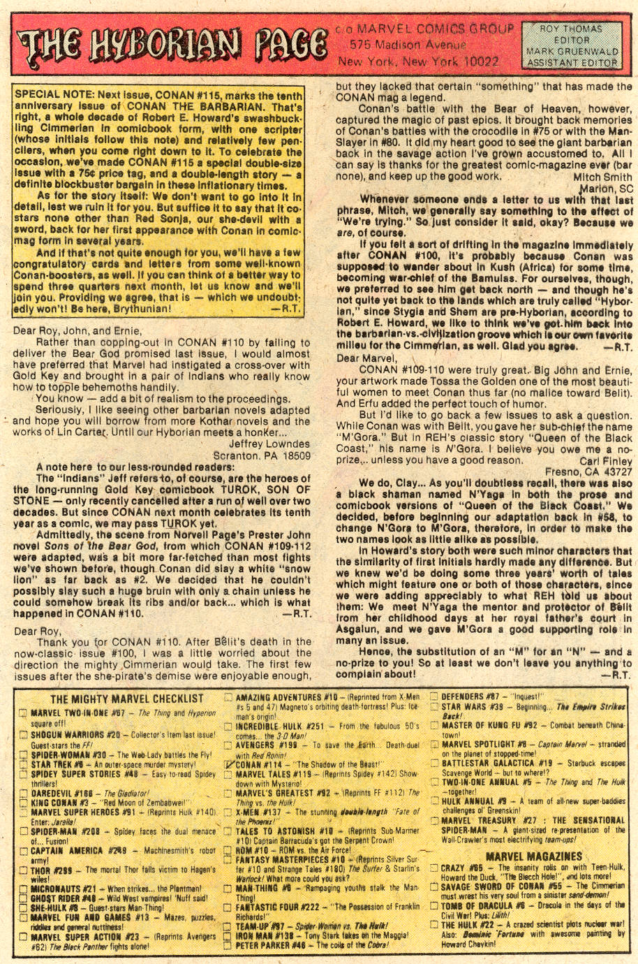 Conan the Barbarian (1970) Issue #114 #126 - English 20
