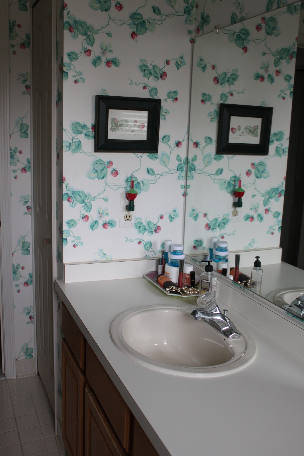 Bathroom remodel the before happenstance home for Show me remodeled bathrooms