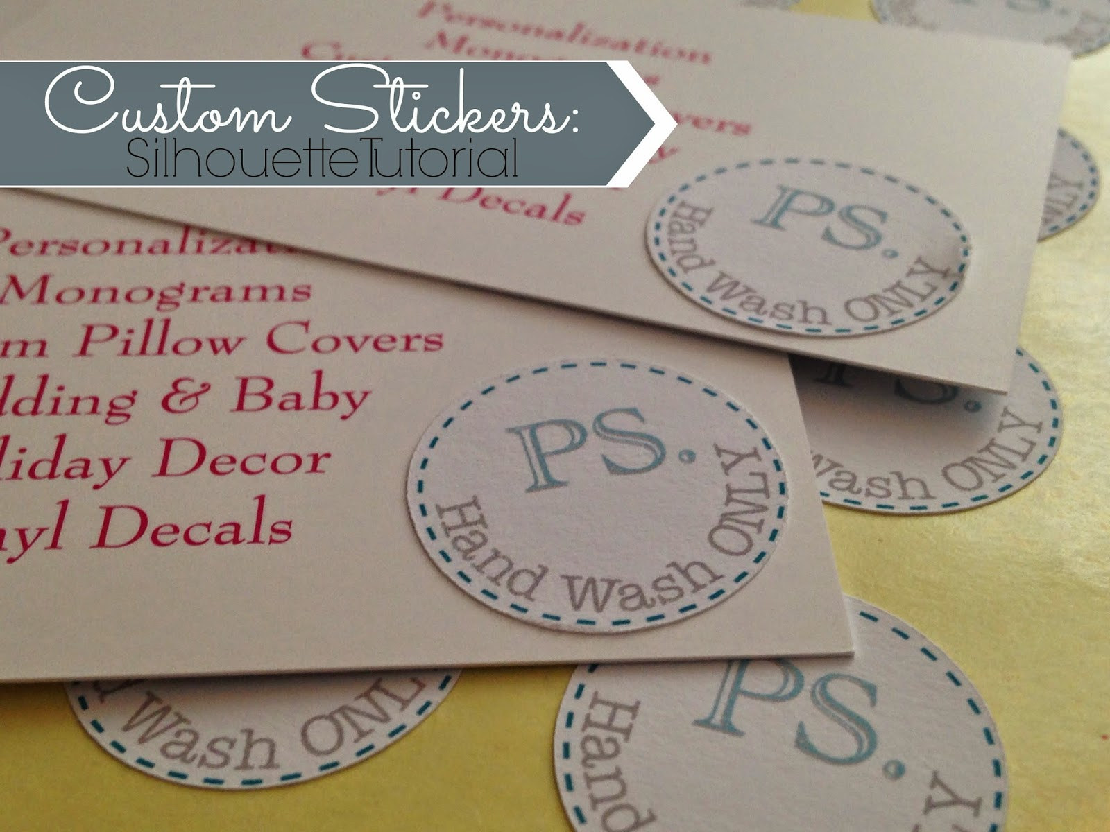 Making Custom Silhouette Stickers Silhouette School - How to make vinyl decals with silhouette cameo