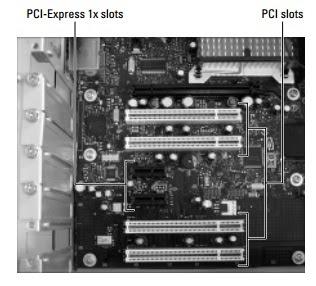PCI-Express 1x slots PCI slots