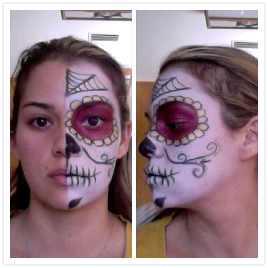 look i did its the sugar skull candy or day of the dead makeup look