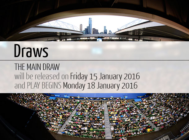 Australian Open 2016 Main Draw - Men's and Women's [Single's and Double's]