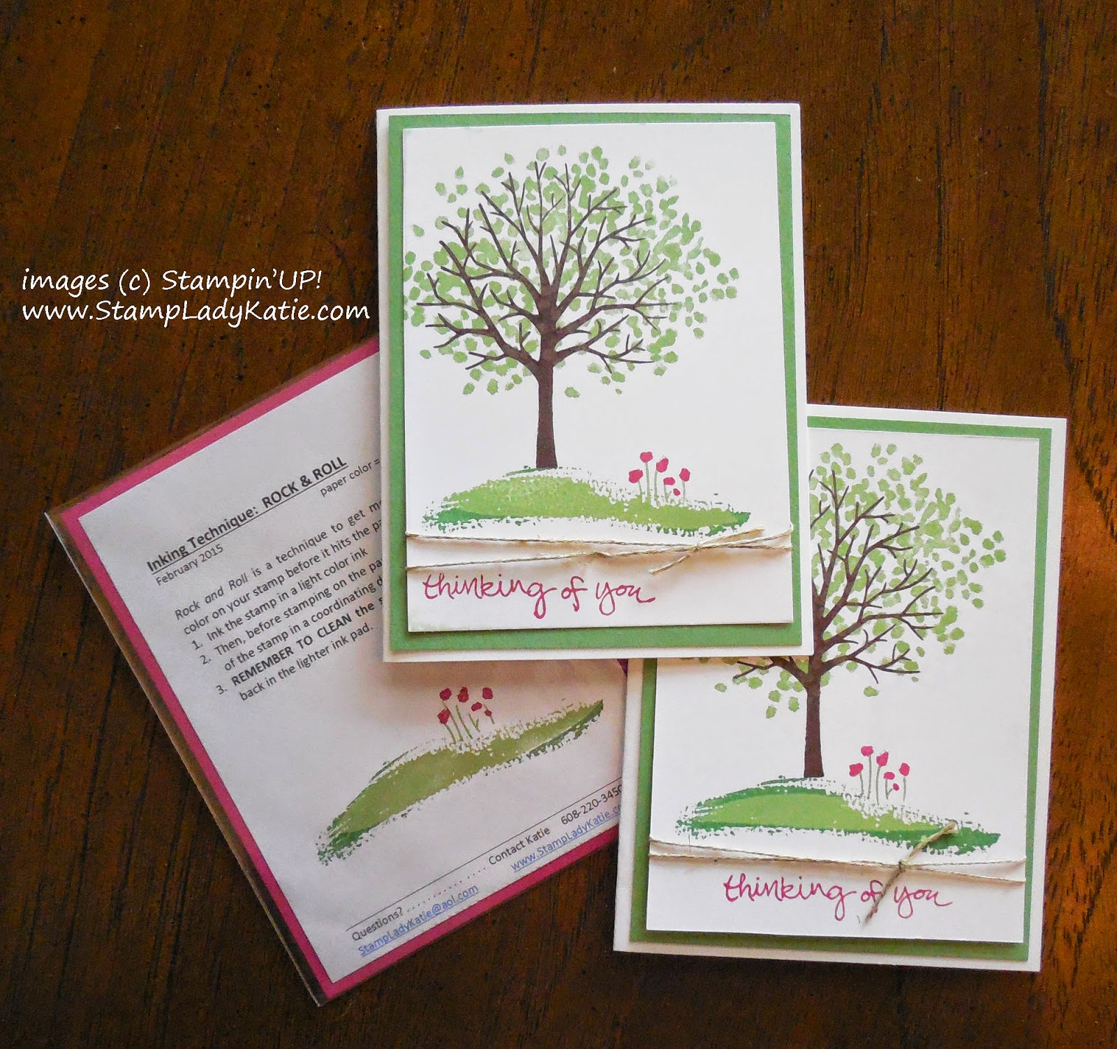 Cards made with Stampin'UP!'s Sheltering Tree Stamp set