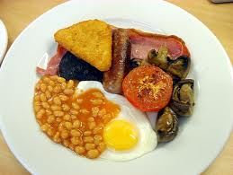 Full English Breakfast may have Black Pudding, Baked Beans and Fried ...