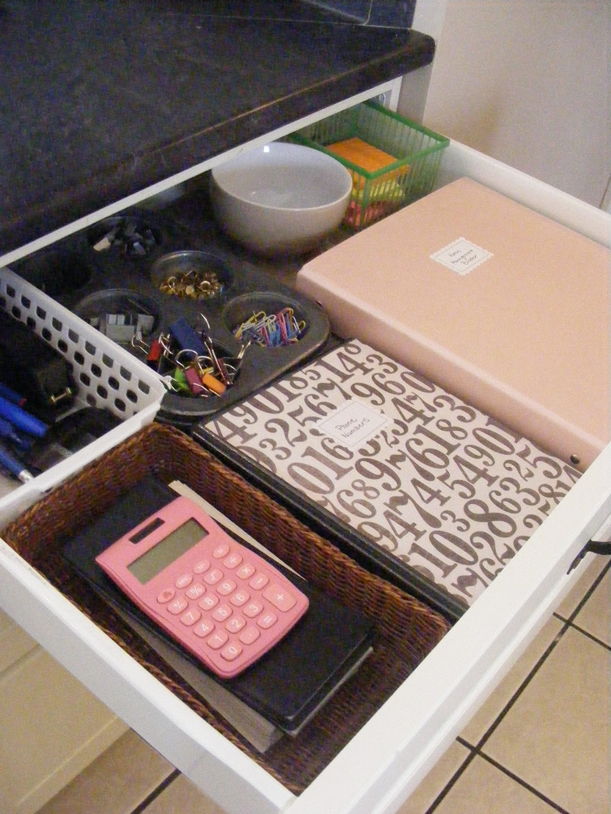 The complete guide to imperfect homemaking my home for Kitchen junk drawer