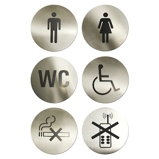 Semne Adezive Restaurante, Toalete, Modele de Semne Autoadezive de Usa, Femei, Barbati, Wc, Handicapati, Nu se fumeaza, fara Mobil, Accesorii Profesionale