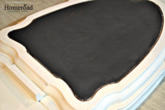 Repurposed Table Base Chalkboard www.homeroad.net