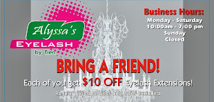 BRING A FRIEND Each of You Get $10 OFF on NEW Lash Set