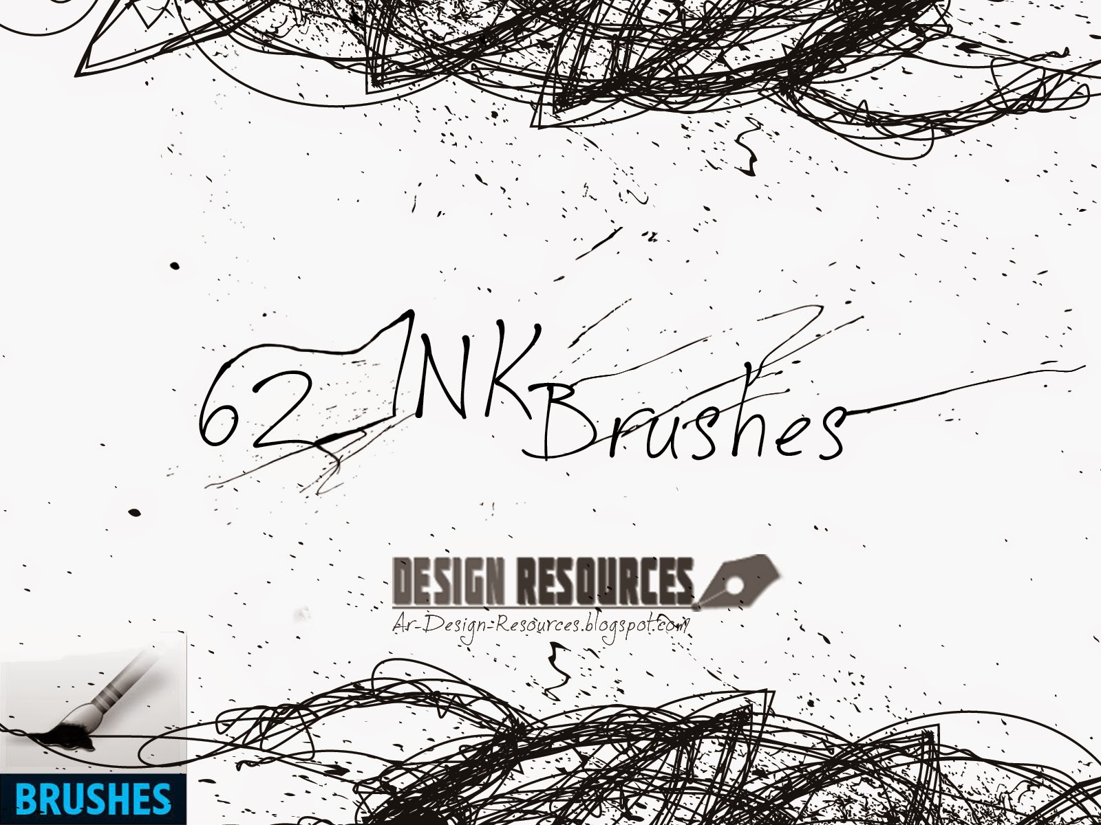 62 Ink brushes — Photoshop Add-ons