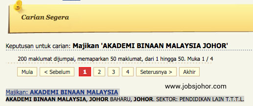 Akademi Binaan Malaysia Johor Jobs February 2016