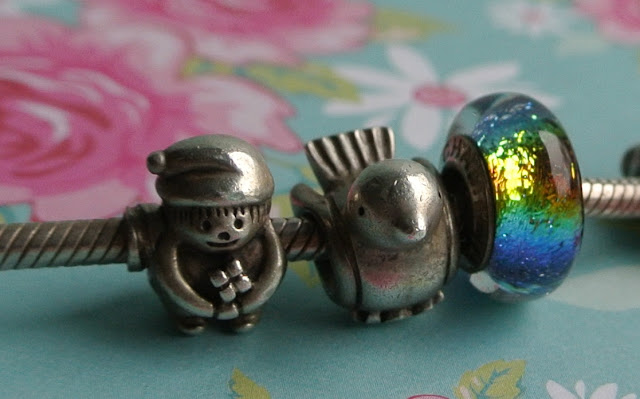 pandora elf bird rainbow charm