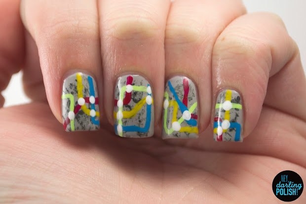 hey darling polish nail art