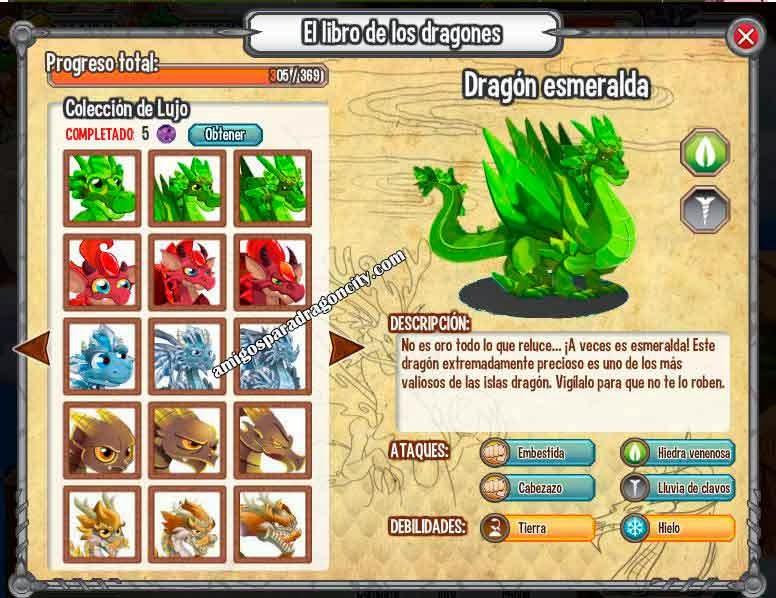 imagen de las nuevas colecciones del libro de dragones de dragon city