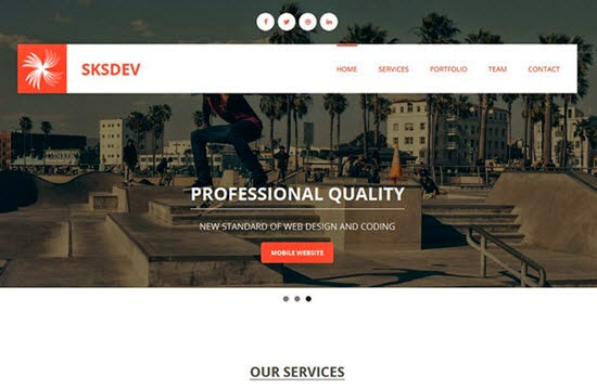 Sksdev WordPress Theme