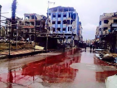 River of blood in Syria