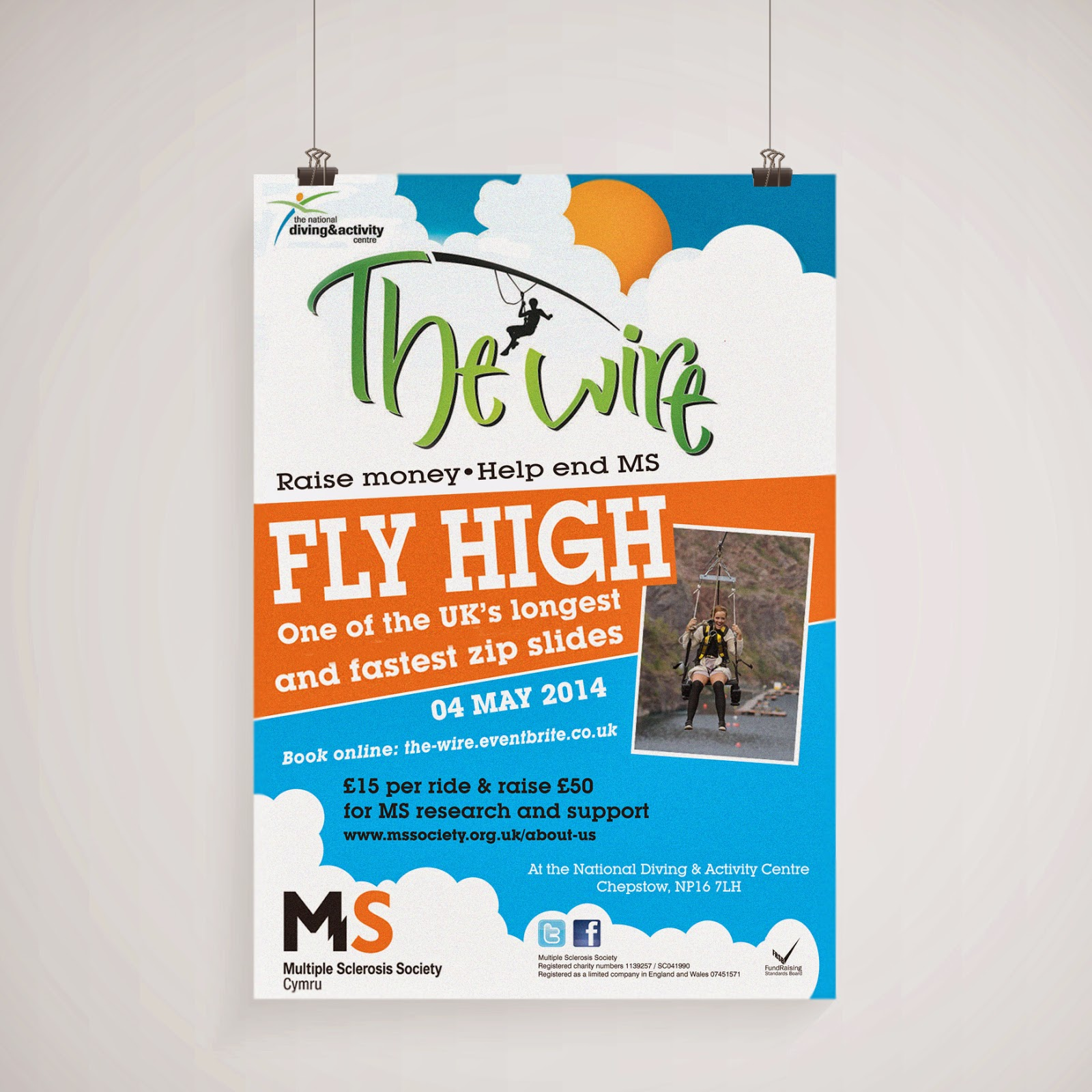 leaflet design for ms society