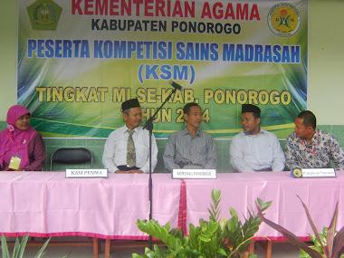 Pembukaan Kompetisi Sains Madrasah 2014 di Ngabar Ponorogo