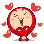 emoticones de peluche rojo enamorado