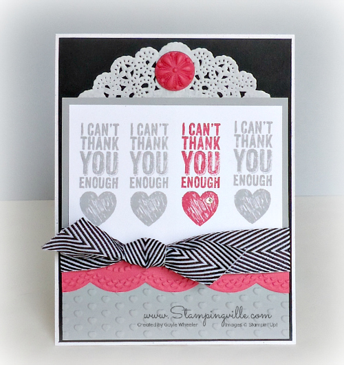 Sweet thank you card | Stampingville #StampinUp