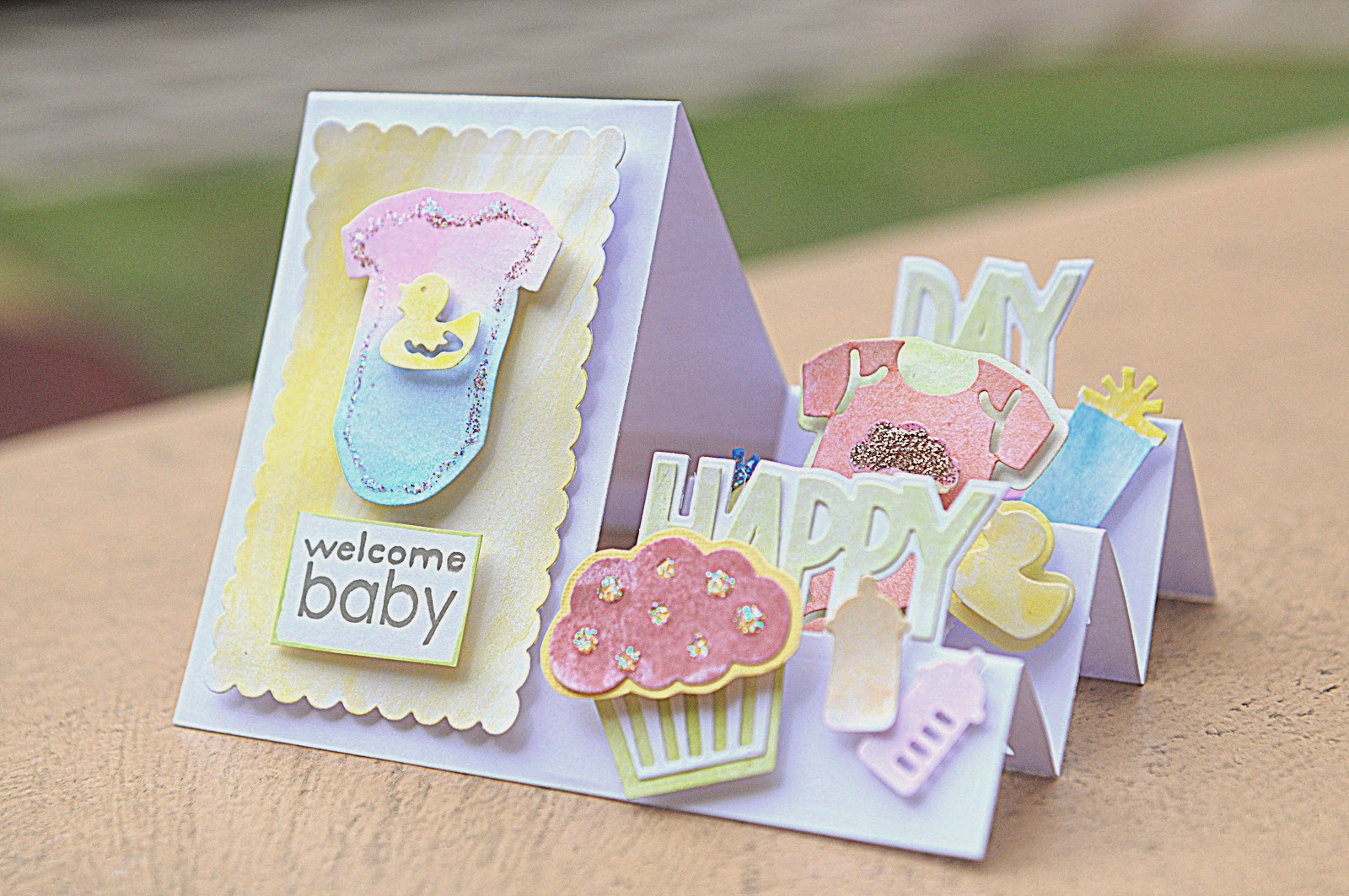 I Made A Baby Shower Card Using My Sizzix Bigshot Machine And The Latest  Sizzix Dies