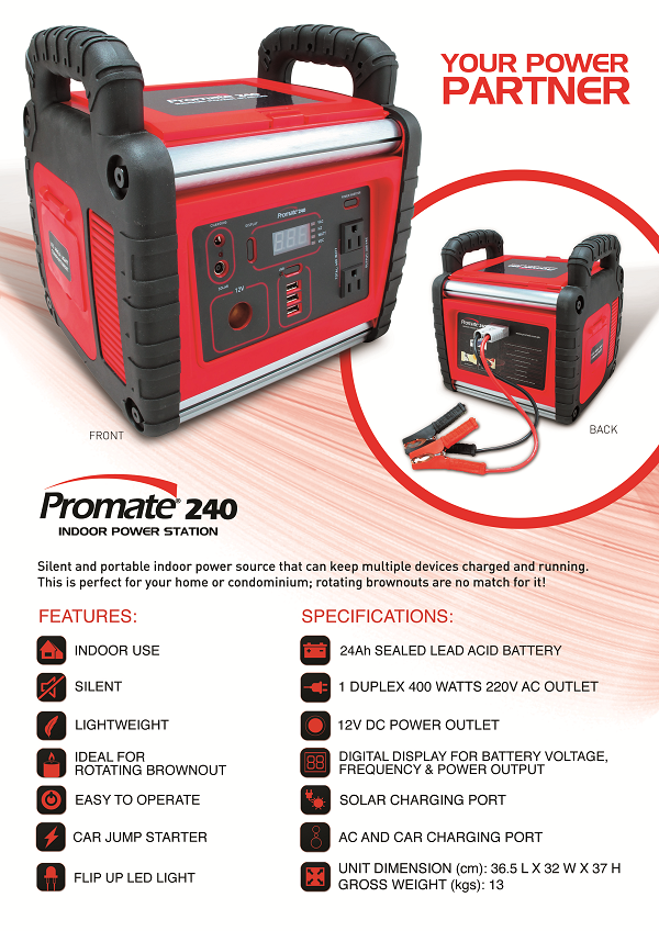 Promate 240 Indoor Power Station Your Reliable Back Up
