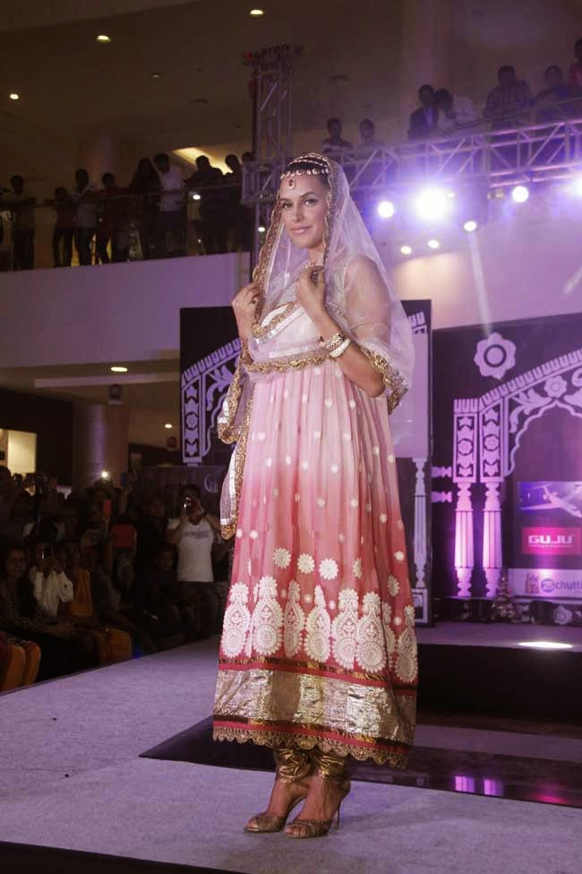 Neha Dhupi Ramp Walk For The Indian Wedding Couture