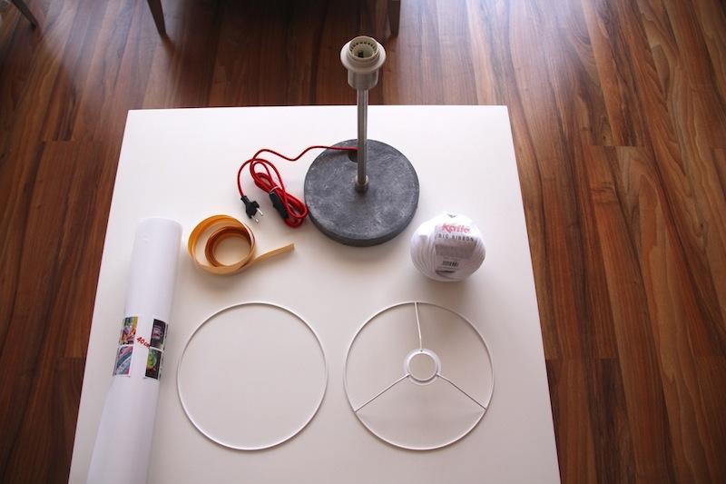 Material necesario - Estructuras para lamparas ...