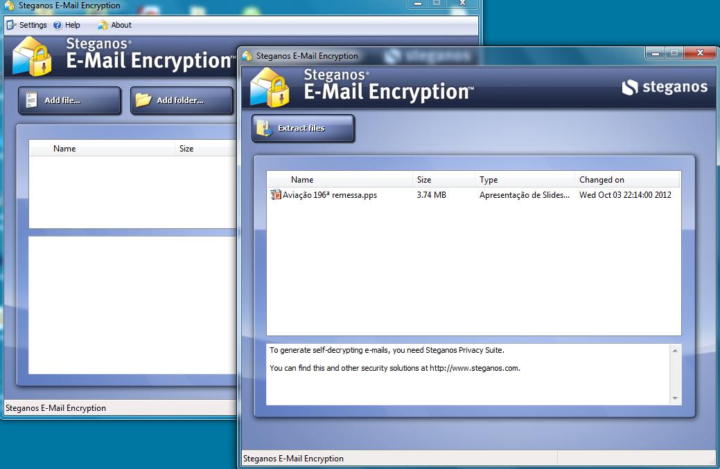 steganos email encryption