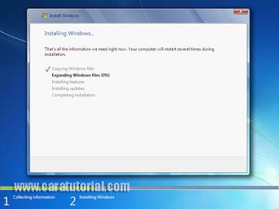 Cara Tutorial Install Windows 7 (Lengkap dengan Gambar)
