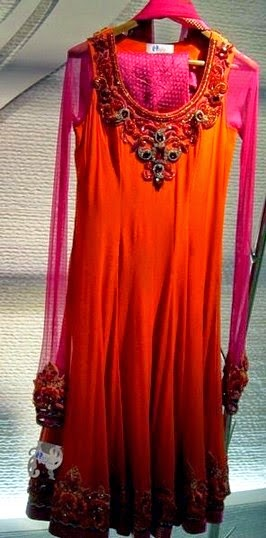 Hare Anarkali Dress Collection 2014