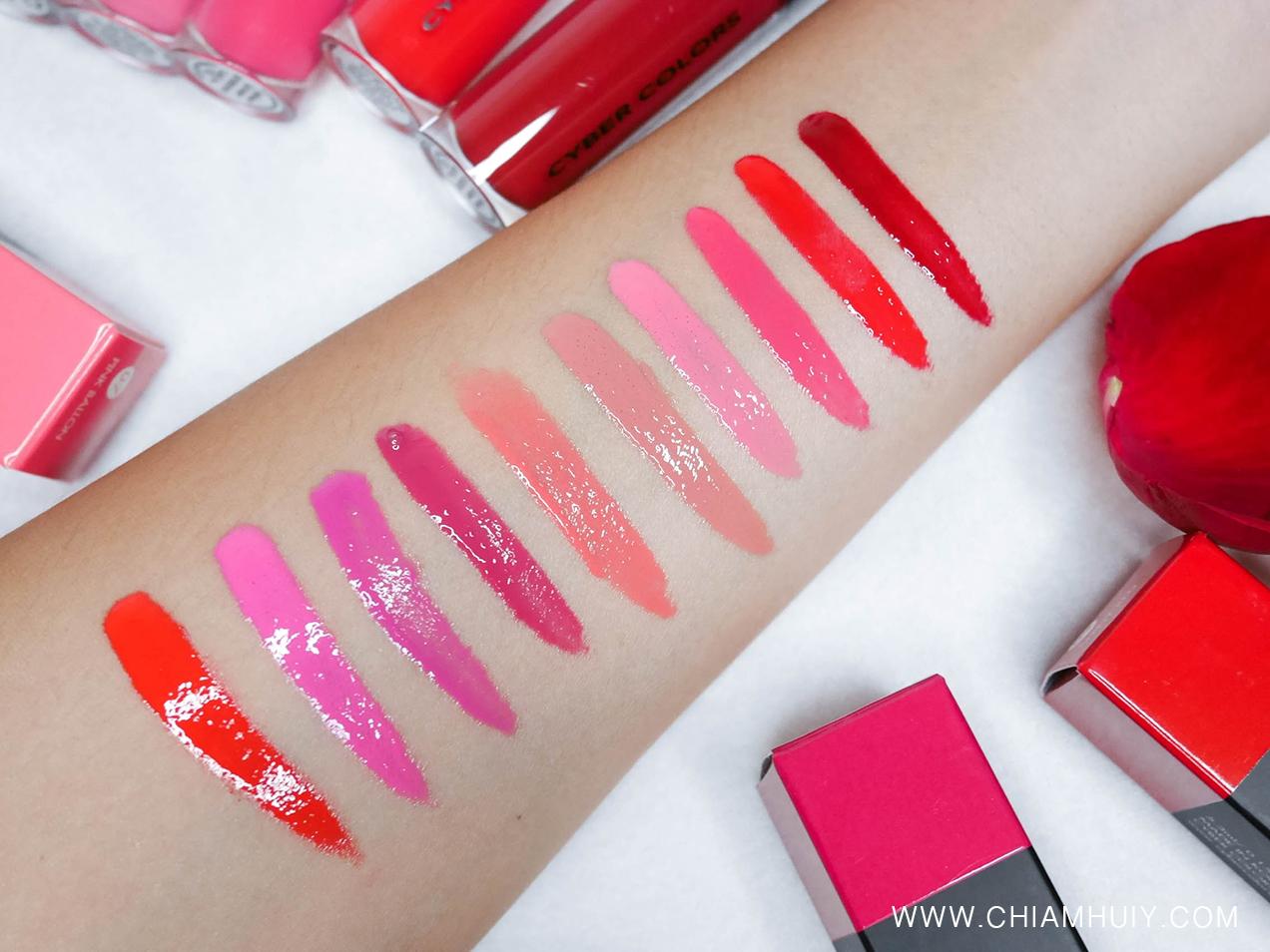 cyber colors anti lines lip lacquer review celine chiam