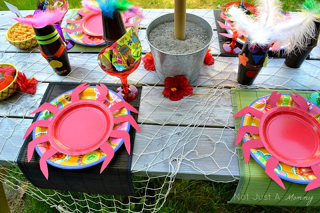 Aloha To Summer Party kids table setting