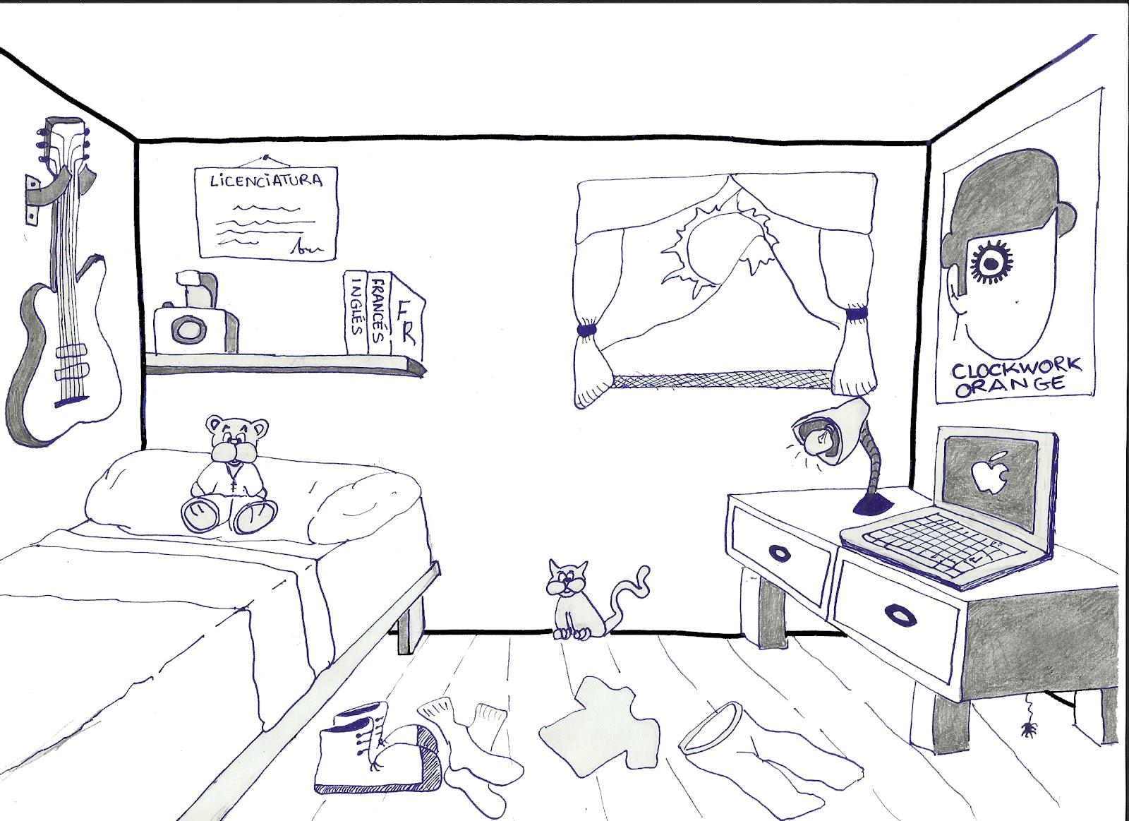Dibujo de un dormitorio imagui - Dibujo habitacion infantil ...