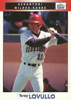 1999 Scranton/Wilkes-Barre Red Barons Team Issue #21 Torey Lovullo