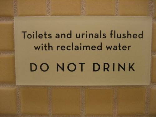 funny toilet sign - do not drink