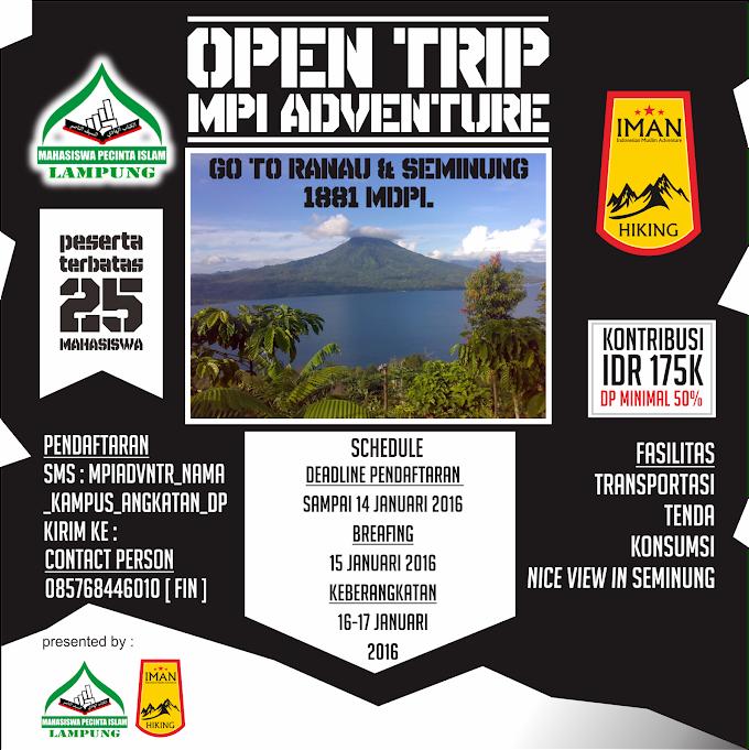 Open Trip MPI Adventure go to Ranau Seminung 1881MDPL